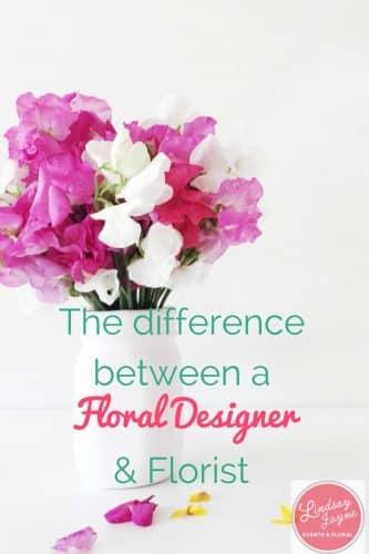 difference between floral designer florist